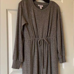 Tie Waist Maternity Sweater Dress
